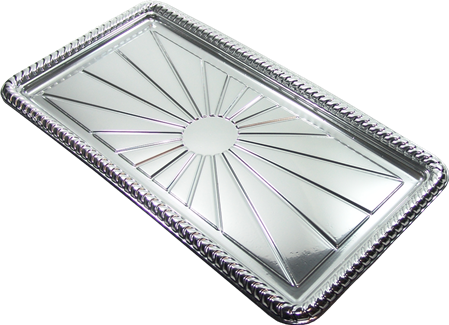BAND.RECTANGULAR PLATA COD.B65 20x39cm.
