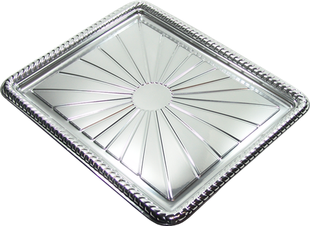 BAND.RECTANGULAR PLATA COD.B45 25x35cm.