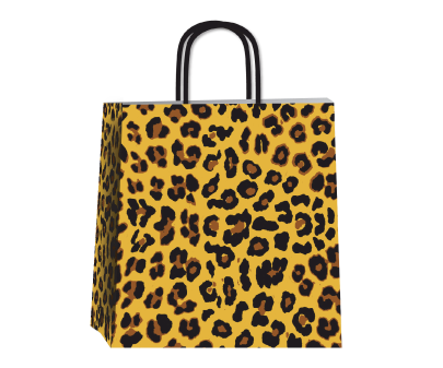 ANIMAL PRINT GRAY 34x17x39cm.TLF0223